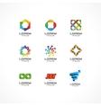 set icon design elements vector image vector image