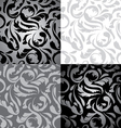Set of 4 Seamless Elegant Floral Background vector image
