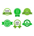set of bio healthy food badges on white background vector image vector image
