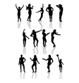 Silhouettes of girls with shadow vector image vector image