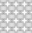 Slim gray four foils with offset on grid vector image vector image