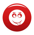 smile icon red vector image vector image