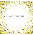 texture gold glitter particles vector image