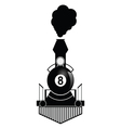 train with eight ball vector image vector image