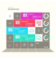 Trendy design infographic vector image