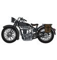 Vintage dark motorcycle vector image vector image