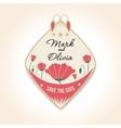 vintage design wedding badges For wedding vector image vector image
