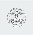vintage of thin line sea beacon icon vector image vector image