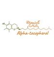 vitamin e alpha tocopherol label and icon vector image vector image