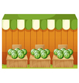 Watermelon Fruit stands vector image vector image