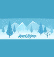 winter abstract landscape vector image vector image