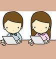 Working Boy and Girl vector image