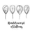 Hand drawn set of balloons vector image