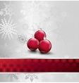 Image Of Christmas with ball vector image