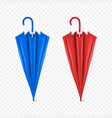 3d realistic render blue and red blank vector image vector image