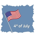 4th July greeting card vector image vector image