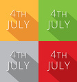 4th of july collection vector image