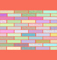 a wall of glazed tile in vivid colorful colors vector image vector image