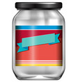 an empty jar with label vector image vector image