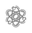 atom or molecule icon science logo vector image vector image