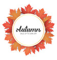 autumn sale banner with trendy autumn lettering vector image vector image