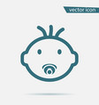 baby face icon isolated on background modern flat vector image