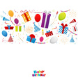 Birthday celebration elements with red ribbon vector image vector image