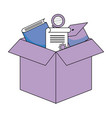 box with education items vector image vector image