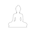 Buddha Path on the white background vector image vector image