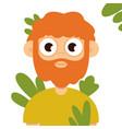 business avatars cartoon expression flat vector image