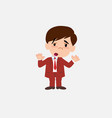 businessman makes a gesture of tired resignation vector image