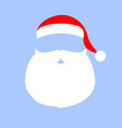 cap and mustache with a beard santa claus on a vector image