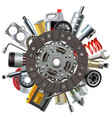 car spares concept with clutch disc vector image vector image