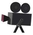clipart a black-colored movie camera or color vector image vector image