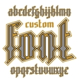 Custom gothic font vector image vector image