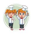 Cute chef kids cartoon