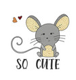 cute little mouse on a white background vector image