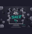 cyber monday sale banner ad template design vector image vector image