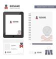 danger business logo tab app diary pvc employee vector image vector image