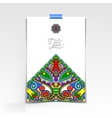 decorative sheet of paper with oriental floral vector image