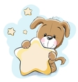 Dog with star vector image
