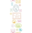 Family framed pictures vertical seamless pattern vector image vector image