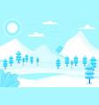 fantasy landscape winter vector image vector image