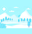 fantasy landscape winter vector image
