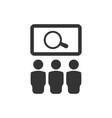 find jobs icon vector image vector image