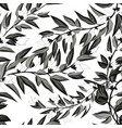 floral seamless pattern blooming white flowers vector image vector image