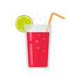 fresh drink glass smoothie or diet beverage vector image