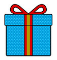 isolated christmas present vector image vector image