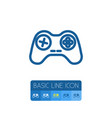 isolated gamepad outline console element vector image