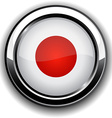 Japanese flag button vector image vector image